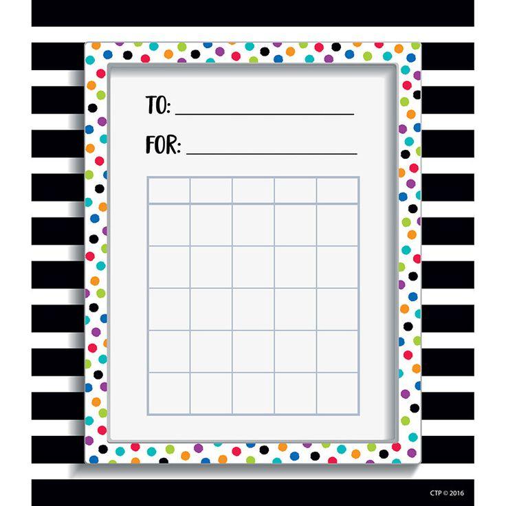 SPOT/STRIPE STUDENT INCENTIVE CHART