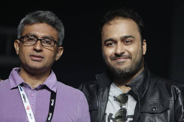 Mihir with the MJB album producer Ashish Manchanda!
