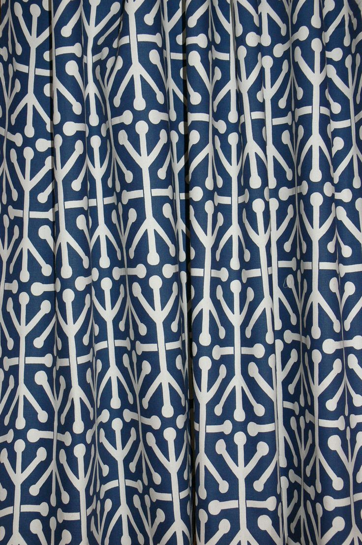 Blue geometric curtains - Two Aruba Navy Blue Felix And Natural Custom Drapes Wide By Up To Long Each In Navy Blue Geometric Curtain Panels