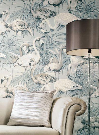 Tropische Tapete Flamingo von Arte