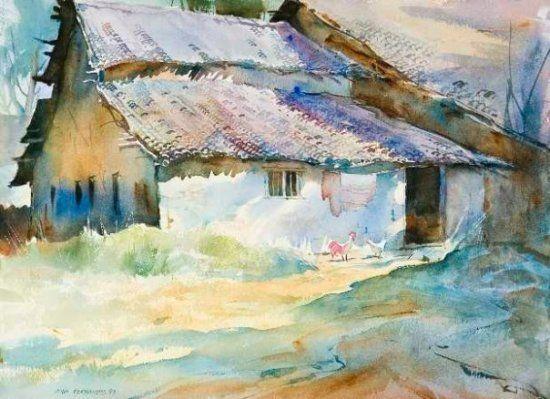 Watercolor Landscape Artists Unique Couple Landscape