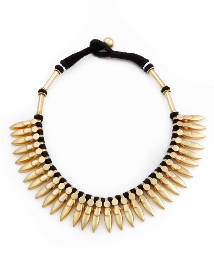 Stunningly modern necklace fuses traditional motifs of Indian jewelry with modern forms and colors.Super sonic elegance in one shot Sterling silver with 3% gold micro plating Hand Made in India #tribal #necklance