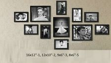 11Pcs Wooden Photo Frame Wall Hang Decor Collage Large Small Multi Set Frames  multi picture frame set for kitchen