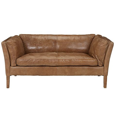 Buy John Lewis Groucho Small Leather Sofa Online at johnlewis.com