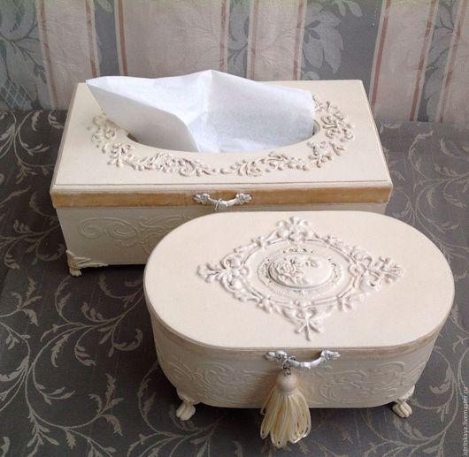 Ванная комната ручной работы. Ярмарка Мастеров - ручная работа. Купить Набор для ванной Салфетница и шкатулка