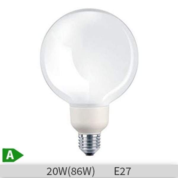 Bec economic glob Philips Softone ESaver 20W, E27 G120, 10000 ore, lumina calda http://www.etbm.ro/becuri-economice