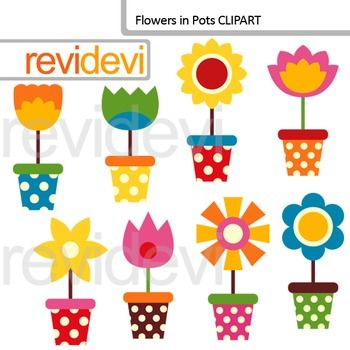Flowers in Pots Clip art - spring clipart resource. This set features colorful flowers in pots. A great digital collection for any teaching resource.This digital clipart set is great for teachers author seller. The collection is suitable for school and classroom projects such as for bulletin board, learning printable, study worksheet, classroom decor, craft materials, activities and games, and for more educational and fun projects.File format:- Each clipart saved separately in PNG format…