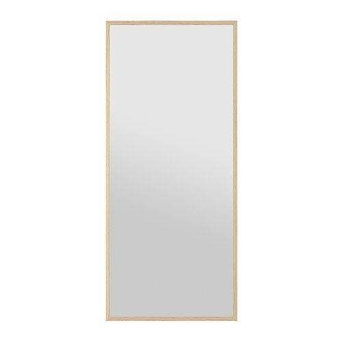 STAVE Lustro - dąb bejcowany na biało, 70x160 cm - IKEA