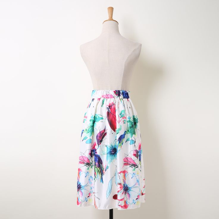 Fresh Watercolor Parrot & Floral Tie Dye Painting Prints Skirt Only $22.99 => Save up to 60% and Free Shipping => Order Now! #Skirt outfits #Skirt steak #Skirt pattern #Skirt diy #skater Skirt #midi Skirt #tulle Skirt #maxi Skirt #pencil Skirt