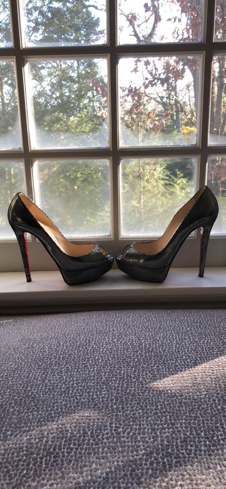 ae69e337f28 CHRISTIAN LOUBOUTIN PUMPS 37 Black/Silver #fashion #clothing #shoes ...
