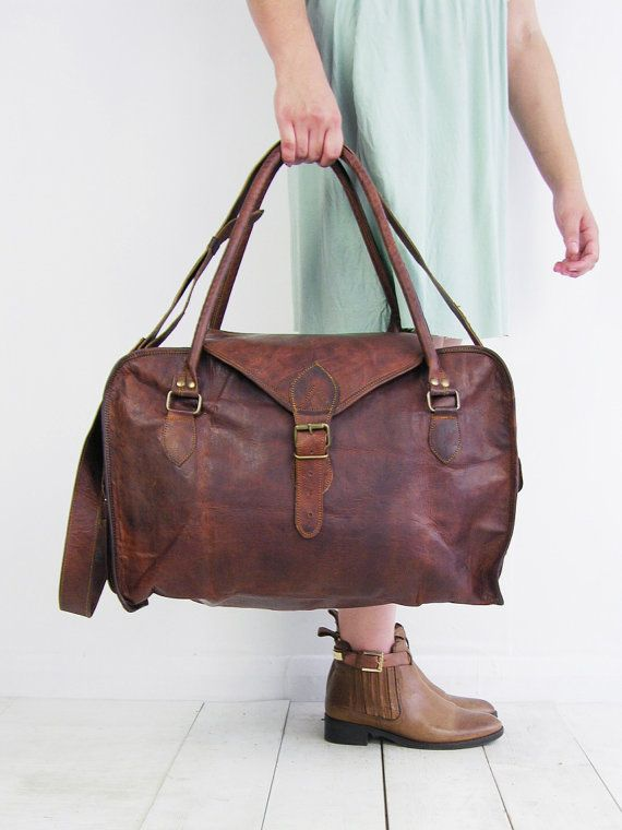Best 25  Leather weekend holdalls ideas on Pinterest