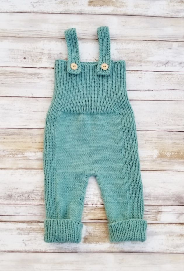 Cozy Hand Knitted Baby Overalls | tlcrochetknitting on Etsy