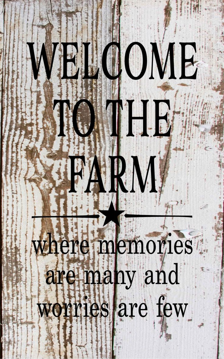 Welcome To The Farm Where Memories Are Many Wood Sign or Canvas Wall Hanging…