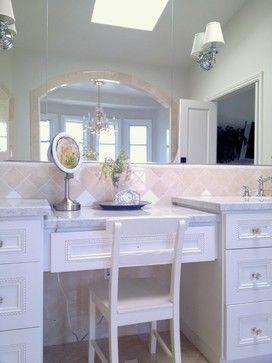 Manhattan Beach Rehab, a custom bathroom vanity was made to fit in this large master bathroom.