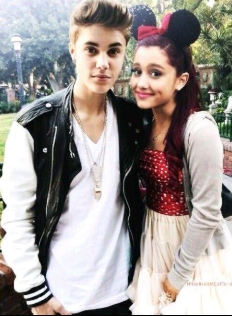 Justin Bieber & Ariana Grande. 2 of my favorite people (: