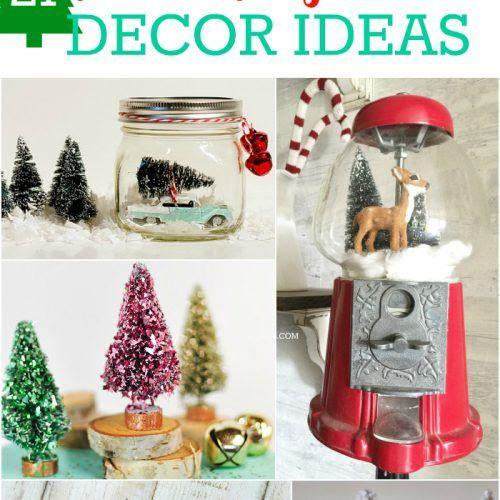 21 bottle brush tree decor ideas | *Home & Design