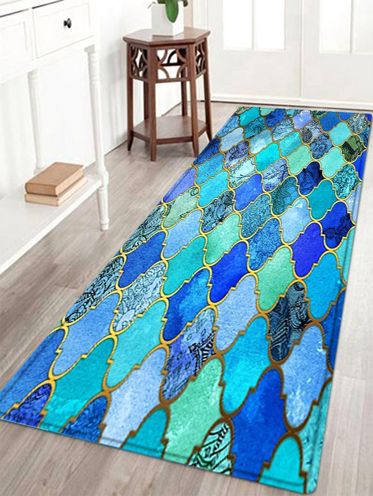 Vintage Pattern Water Absorption Area Rug