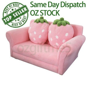 Kids Toddlers Pink Strawberry Sofa Lounge Couch Chair