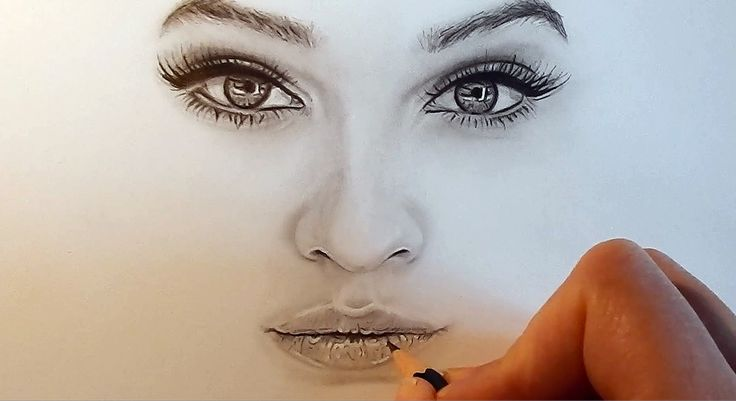 Tutorial | How to shade and draw realistic eyes, nose and lips with grap...
