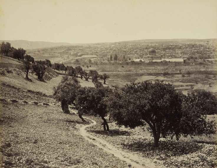 Jerusalem from Mount of Olives 1862 the Valley of Ajalon, the site of a famous biblical battle, fought by Joshua, the leader of the Israelites, against the Amorite kings.
