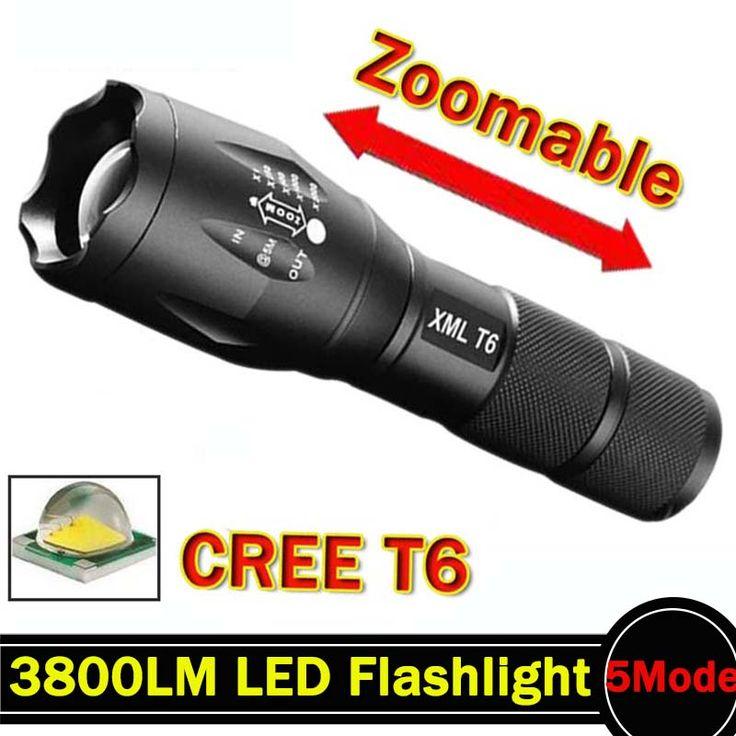 Led-taschenlampe 3800 Lumnes CREE XM-L T6 LED Taktische Taschenlampe 5 Modus Zoomable Taschenlampe Wasserdichte Taschenlampe lanternas