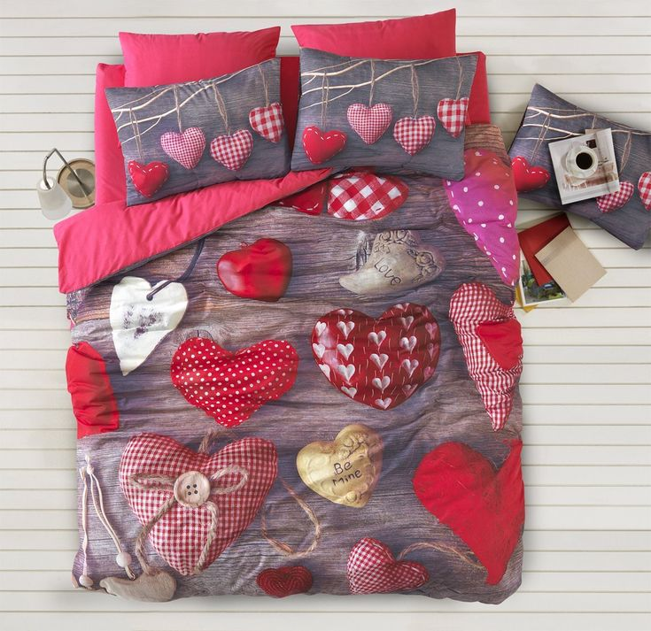 3D valentine duvet quilt cover set most useful housewarming gifts