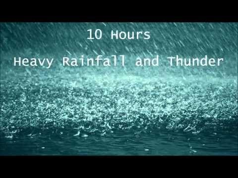 ▶ 10 Hours Heavy Rainfall with Thunder Ambient Sleep Sounds la lluvia del sueño tormenta Thunderstorm - YouTube
