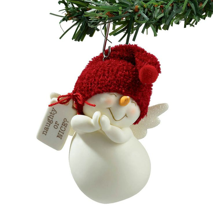 Naughty or Nice Snowpinion Ornament, by Enesco/Department 56. - The Weed Patch
