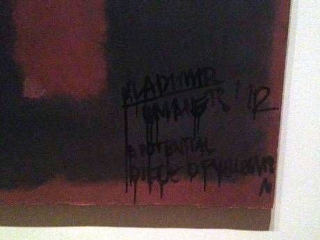 Mark Rothko painting 'defaced' at the Tate Modern