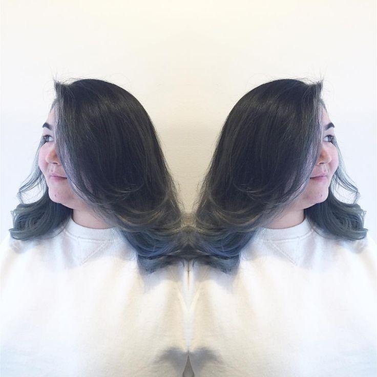 "jaxcee on Instagram: ""BLUE STEEL II"" grey hair silver hair highlights Asian hair beauty Pravana Vivids @colorphlex_usa"