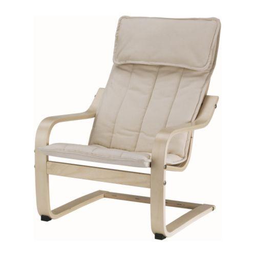 POÄNG Barnestol IKEA Enkel å holde ren; avtagbart trekk som kan vaskes i maskin. Matcher POÄNG lenestol i voksenstørrelse.