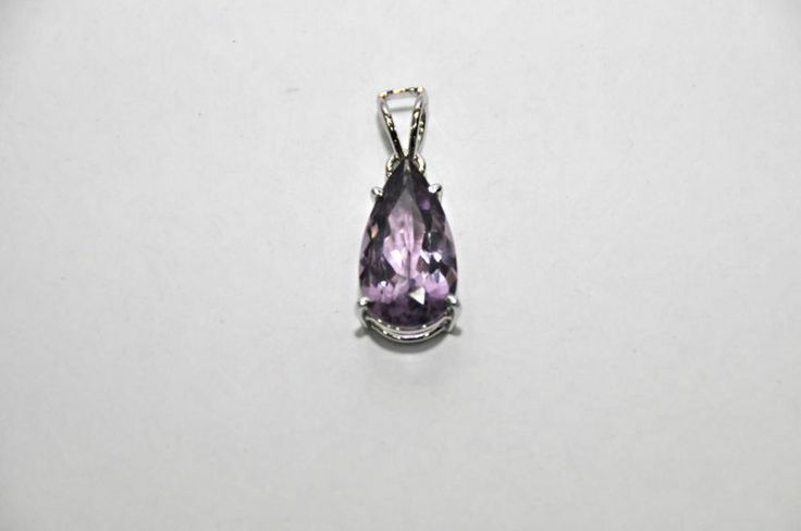 Rare! Natural Amethyst Genuine Gemstone Pendant 11Ct 925 Silver Sterling Jewelry #Handmade #Pendant