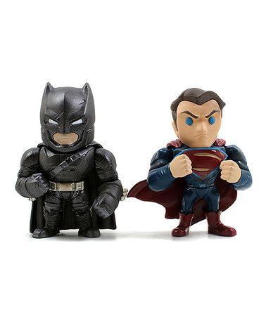 Batman v Superman Action Figure Set #zulily #zulilyfinds