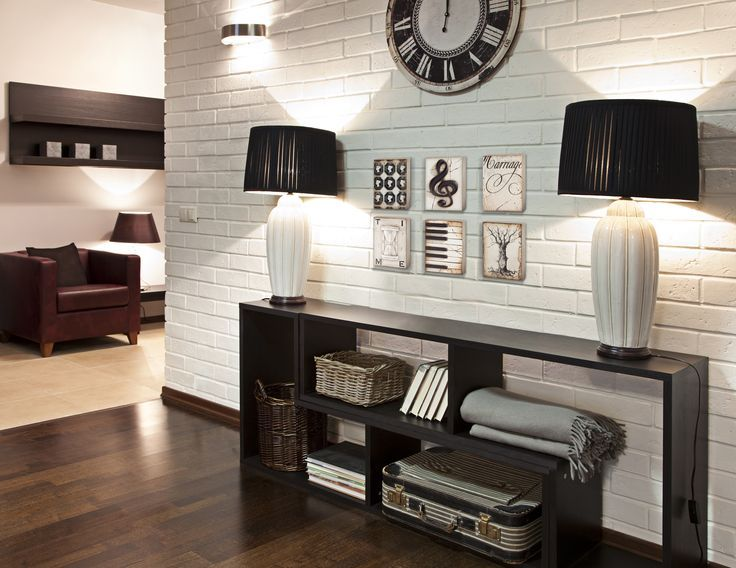 Home wall decor ideas - Brick wall. This has the feel of a space ...