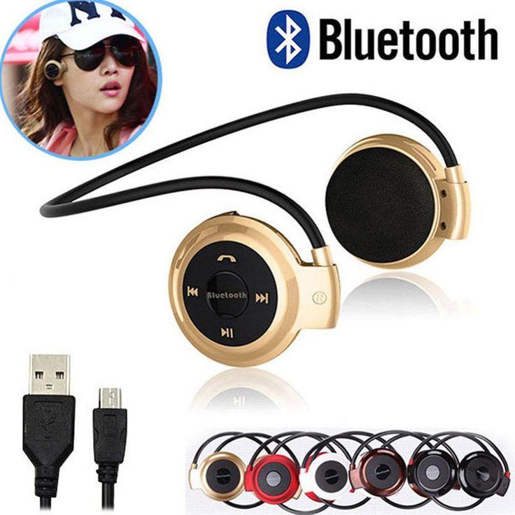 503 BT Headset Earphone Bluetooth Earpeice with micro SD Card port cordless Headphone handsfree Head set For Phone TV PC