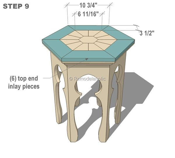free moroccan side table plans - this could be built to be collapsible, like the little tables we used to have in West Africa. Perfect for stowing in the camper.