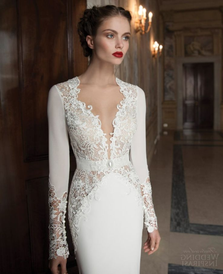 Wedding dresses with sleeves for older brides 2014 for Older brides wedding dresses