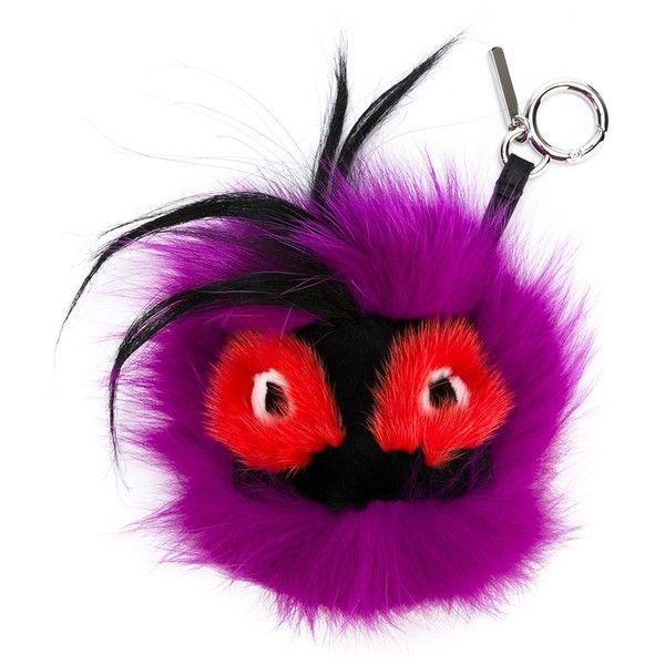 Fendi 'Oret' Bag Bugs charm (5.220 DKK) ❤ liked on Polyvore featuring jewelry, pendants, fendi, fendi charms, fox charm, fox jewelry and charm jewelry