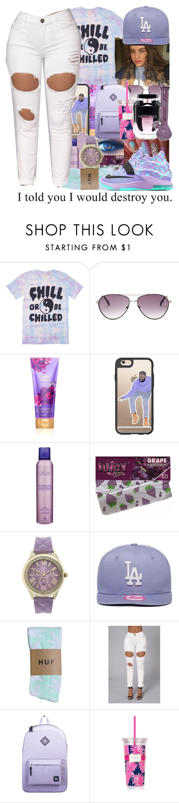 """""""should i start making sets like this, or the way i am now?"""" by wma0411 ❤ liked on Polyvore featuring BCBGMAXAZRIA, Casetify, Alterna, Geneva, New Era, NIKE, Herschel Supply Co., Lilly Pulitzer, Victoria's Secret and Hello Kitty"""