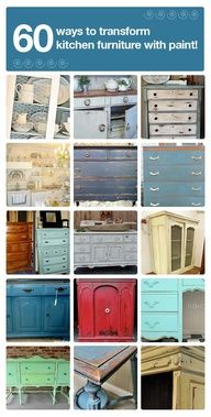 DIY:  60 ways to transform kitchen furniture with paint!  Image Source