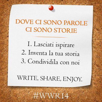 """Anteprima di """"Dove ci sono parole ci sono storie"""" #WWR14"""