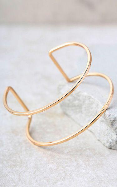 Current Events Gold Cuff Bracelet via @bestchicfashion