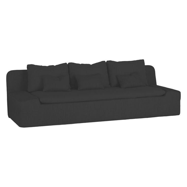 KASHA Charcoal textured fabric 3 seater sofa | Buy now at Habitat UK