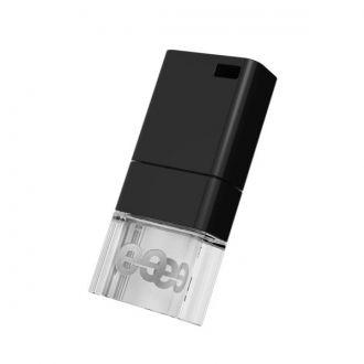 LEEF FLASH USB 2.0 ICE LED 32 GB BLACK Leef Ice 3.0 to idealne połączenie piękna i funkcjonalności. Urządzenie zostało zaprojektowane z anodyzowanego aluminium i materiału metaakrylowego na bazie żywicy. Daje to unikalne wrażenie wizualne, kiedy pendrive jest podłączony i wbudowana dioda LED łagodnie świeci.