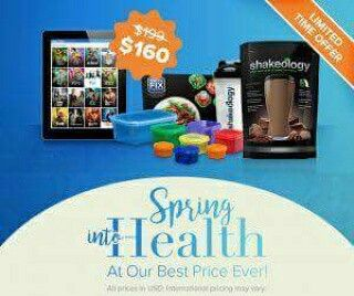 ONLY 10 DAYS left to get in on this PROMOTION!!!  This is an amazing deal that usually runs for $199 and is on sale for a limited time at $160!  What you get:  One year online access to Beachbody on demand - this includes all of their premium content and all of their workouts! One month of the amazingly delicious superfoods shake, Shakeology, in one of seven exciting and delicious flavors! 21-day fix containers and meal plan Beachbody account access to recipes and more! Me as
