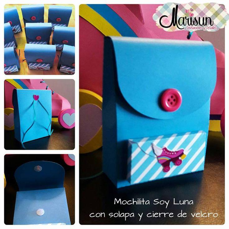 #SoyLuna Mochila #patines Fiesta Invitación