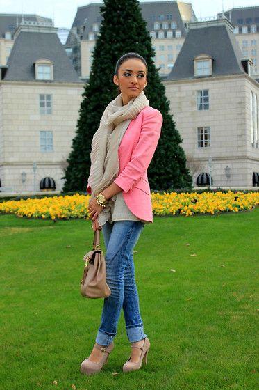 Nuetrals & Pink Blazer...maytedoll :)