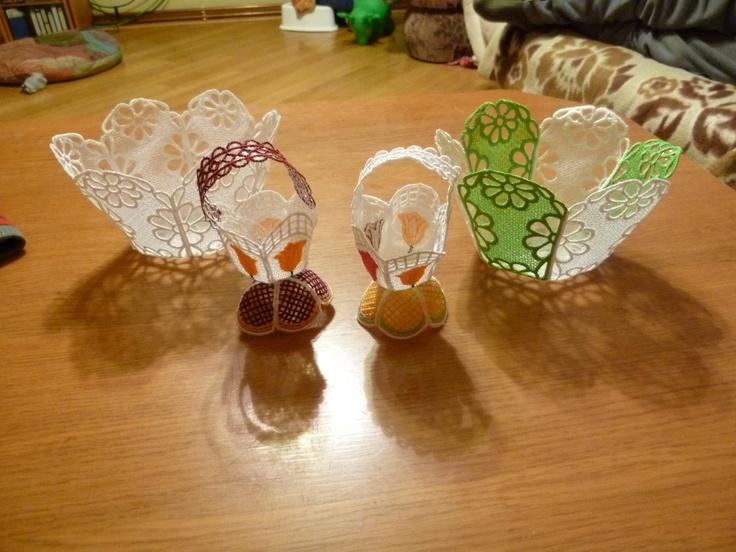 velikonoční košíčky na sladkosti