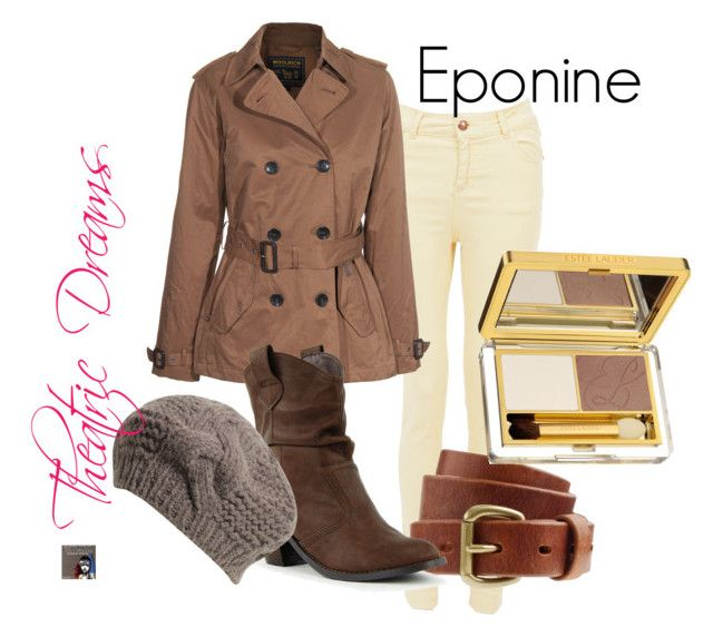 """""""Eponine"""" by theatricdreams ❤ liked on Polyvore featuring Miso, Woolrich, J.Crew, Jigsaw, Estée Lauder, modern, eponine, broadway, les miserables and theatre"""