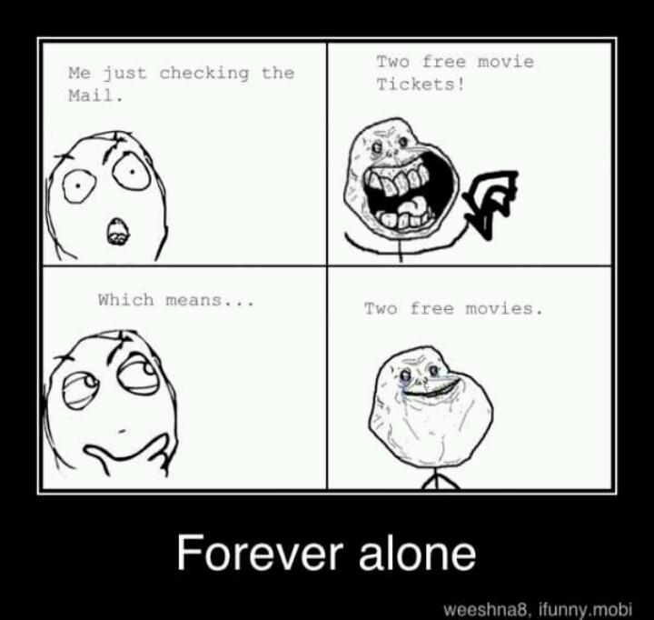 Forever Alone Meme Pinterest